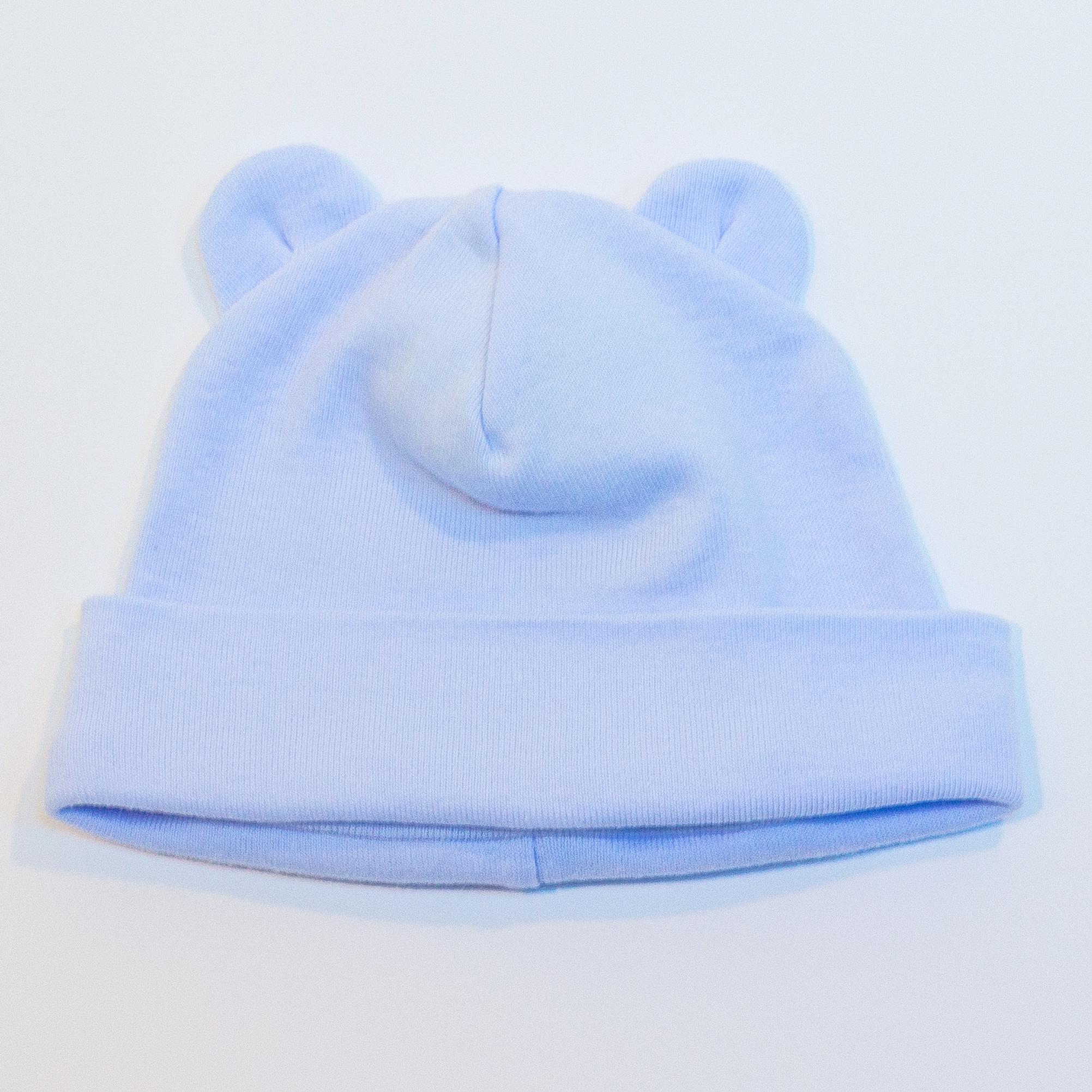 Вязание шапочки с ушками для новорожденного мальчика 100